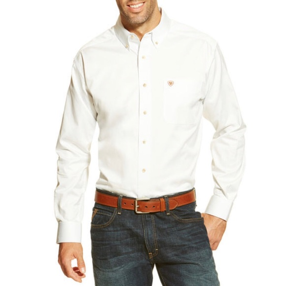 Ariat Other - Ariat White Solid Twill Classic Fit Button Down